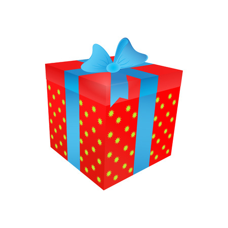 Isolated present box on the white background