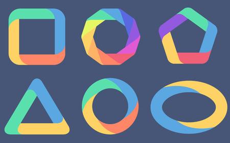 six different diagrams flat design Illustration