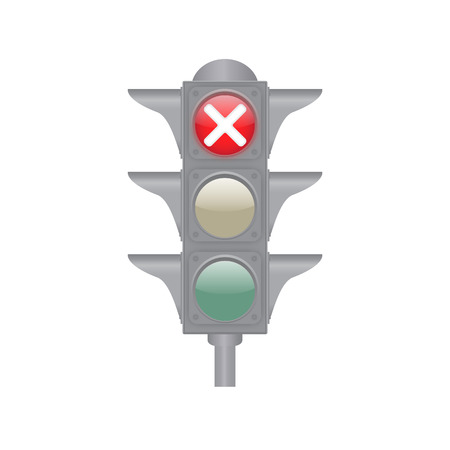 Traffic lights isolated on the white background