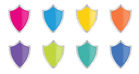 set of isolated shields Illustration