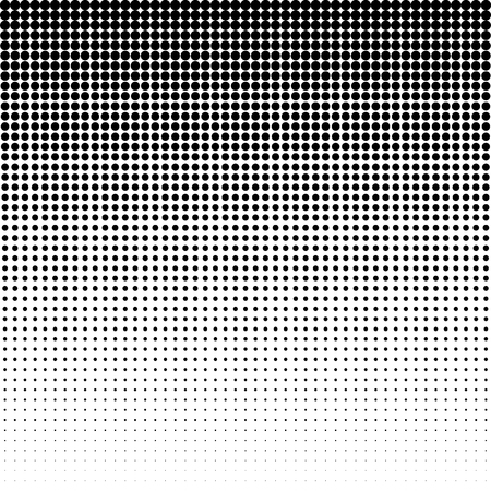 Halftone effect vector pattern. Circle dots isolated on the white background.
