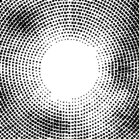 Halftone vector distorted dots.Halftone effect. Background concept. Vignette texture.  Dots isolated on the white background.