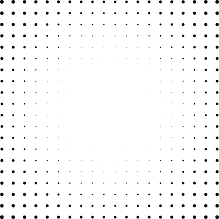 Set of Halftone squares isolated on the white background.Collection of halftone effect dot patterns.Rectangle black illustration. Isolated backdrop. patterns.Rectangle illustration. Isolated backdrop.