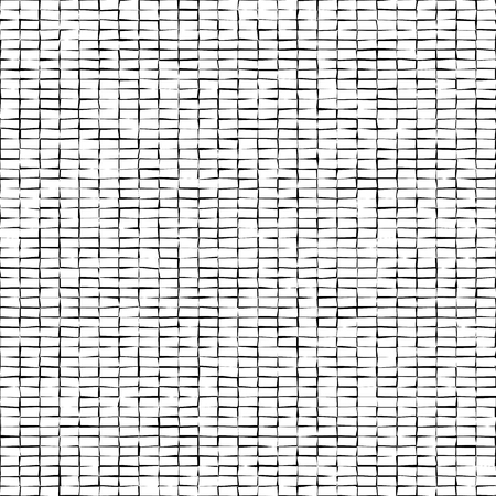 Distorted squares abstract pattern.Black squares isolated on white background. Illustration for your design.Noisy bricks texture. Illustration