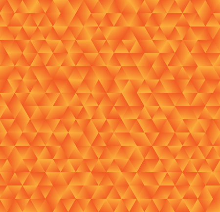Texture consisting of orange gradient triangles.Abstract vector background.Template for your design.