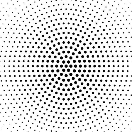 하프 톤 점선 된 배경 circularly 분산입니다. 하프 톤 효과 벡터 패턴입니다. 원점 흰색 배경에 고립입니다. 일러스트