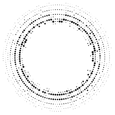 Halftone dotted background circularly distributed. Halftone effect vector pattern. 