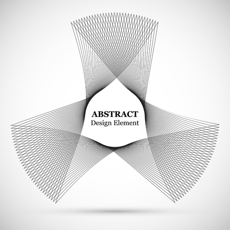 Abstract symmetrical background consisting from lines. Vector pattern for prints and posters. Design element.