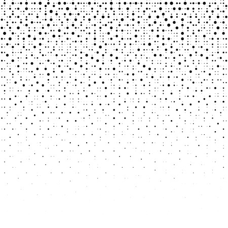 Halftone dotted background. Dotted vector pattern. Chaotic circle dots isolated on the white background.