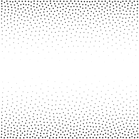 Halftone dotted background. Dotted vector pattern. Chaotic circle dots isolated on the white background.Seamless asymmetrical pattern Иллюстрация