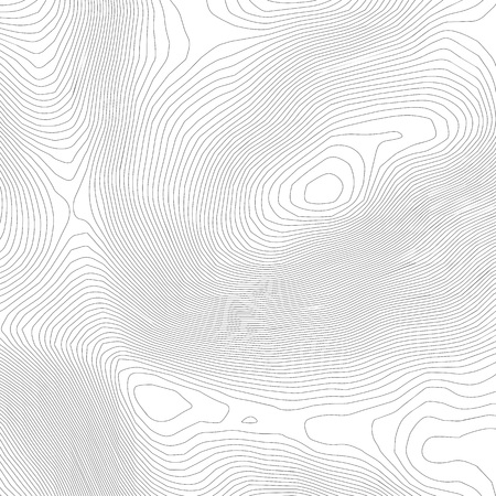 Topographic abstract contour map  background. Elevation map. Hollow curved outline. Topological map vector.Geography and topography vector illustration plan.