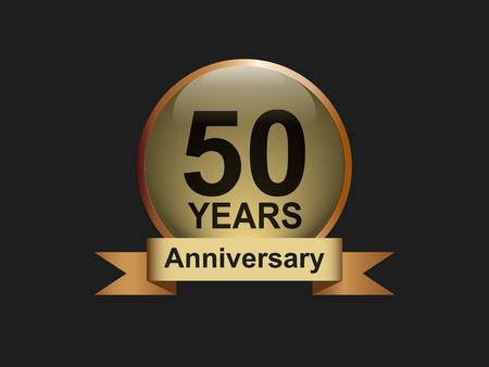 Year anniversary elegant golden design template background