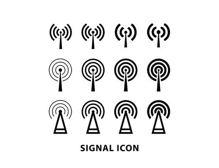 Wifi icon set vector illustration on white background.
