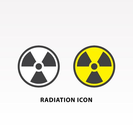 Radiation symbol icon set vector illustration. Illustration
