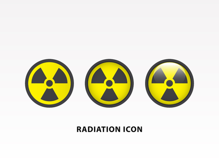 Radiation symbol icon set vector illustration. Illustration