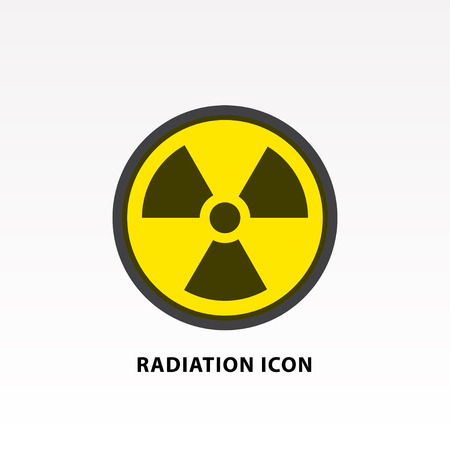 Radiation symbol icon vector illustration.