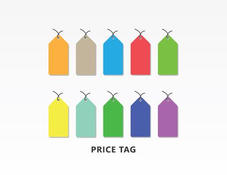 Colorful price tag icon vector illustration. Çizim