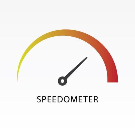 Speedometer icon vector illustration. Indicator icon.
