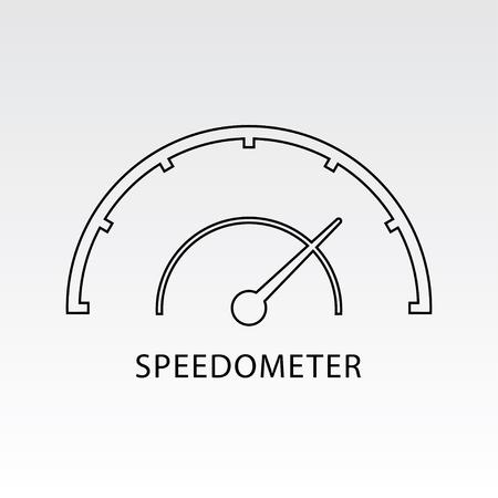 high speed internet: Speedometer icon vector illustration. Indicator icon.