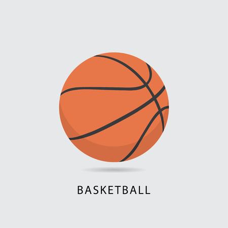 coordinacion: Ilustración de vector de bola de baloncesto. Vectores