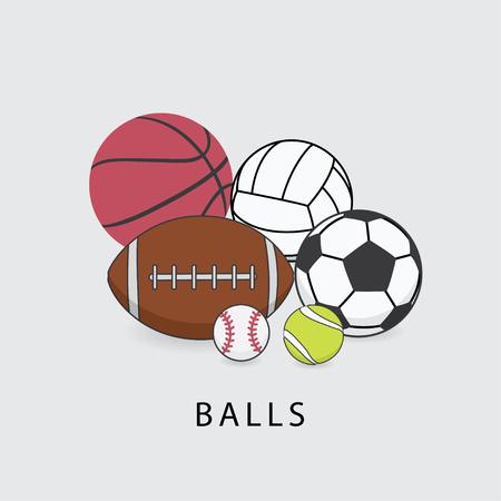 Balls vector illustration.
