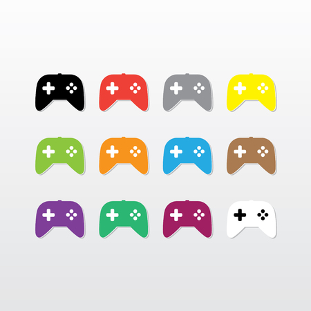 handheld device: Game controller icon vector illustration.