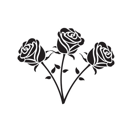 Roses icon vector illustration.