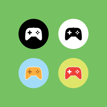 Game controller icon set vector illustration.