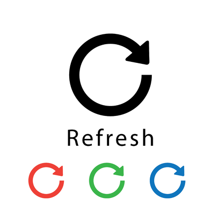 Refresh icon vector illustration.
