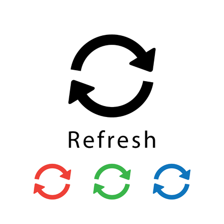 Refresh icon vector illustration.
