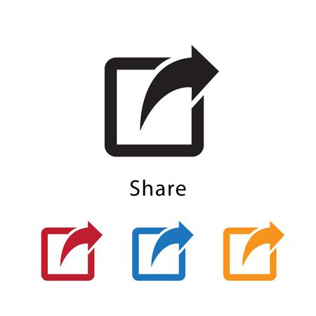 Ilustración de vector icono de compartir.