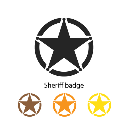 Sheriff badge icon vector illustration.
