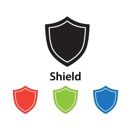 Shield icon vector illustration. Illustration