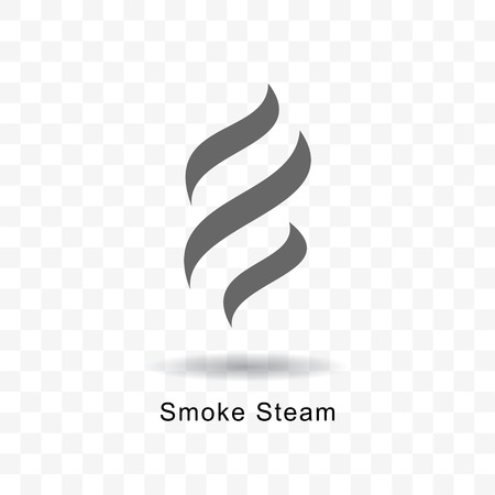 Smoke steam vector icon illustration on transparent background.