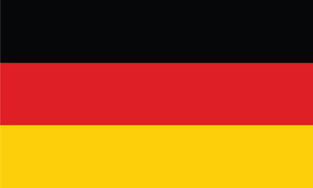 Germany Flag official colors and proportion correctly vector illustration.