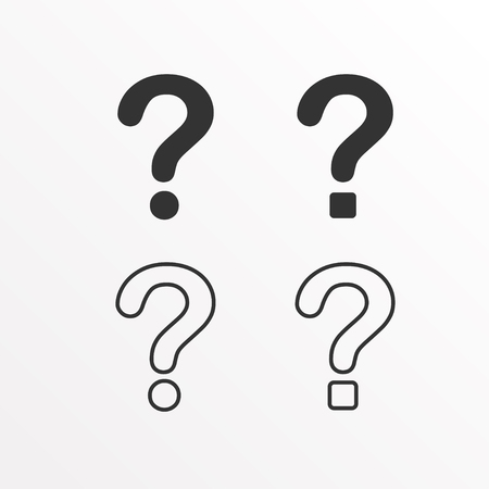 Set of question mark icon vector illustration. Stock Illustratie