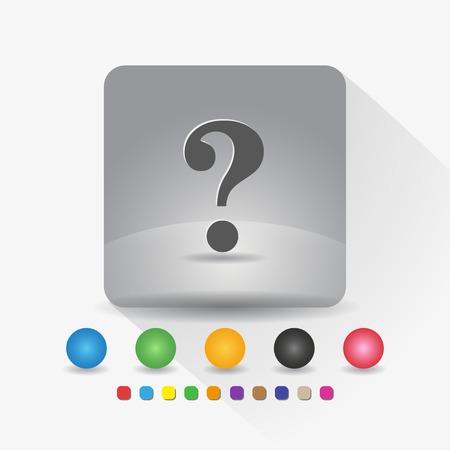 Question mark icon sign app vector illustration. Illustration