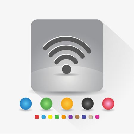 Signal wifi icon sign app vector illustration.