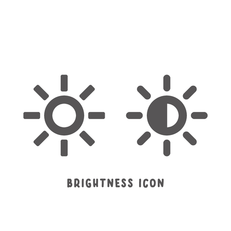 Brightness icon simple silhouette flat style vector illustration on white background.