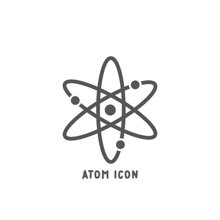 Atom icon simple silhouette flat style vector illustration on white background.