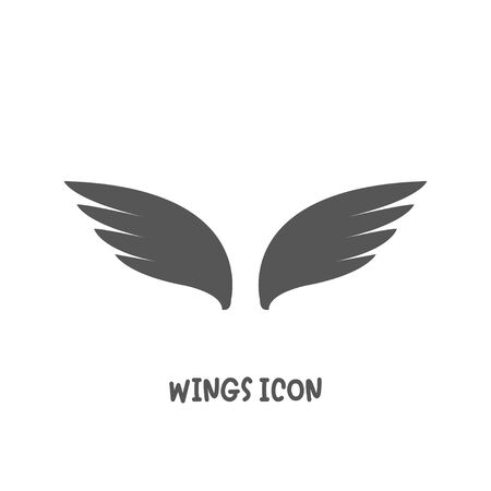Wings icon simple silhouette flat style vector illustration on white background.