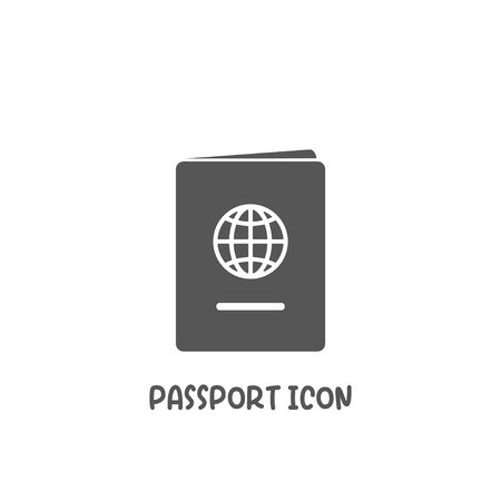 Passport icon simple silhouette flat style vector illustration on white background. Иллюстрация