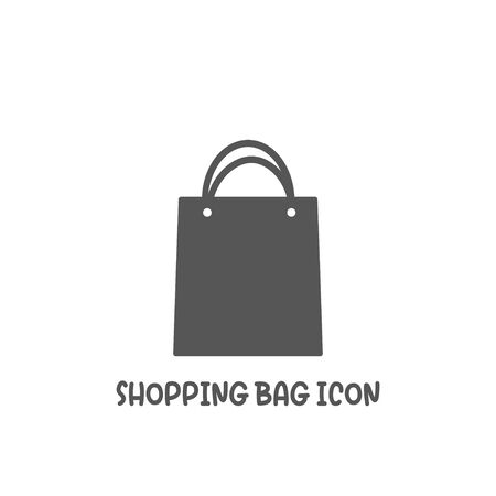 Shopping bag icon simple silhouette flat style vector illustration on white background.