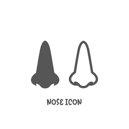 Nose icon simple silhouette flat style vector illustration on white background.