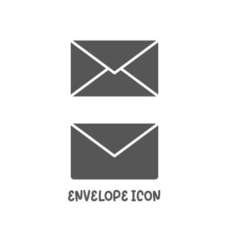 Envelope icon simple silhouette flat style vector illustration on white background.
