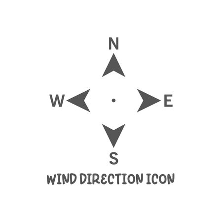 Wind direction north south west east icon simple silhouette flat style vector illustration on white background.