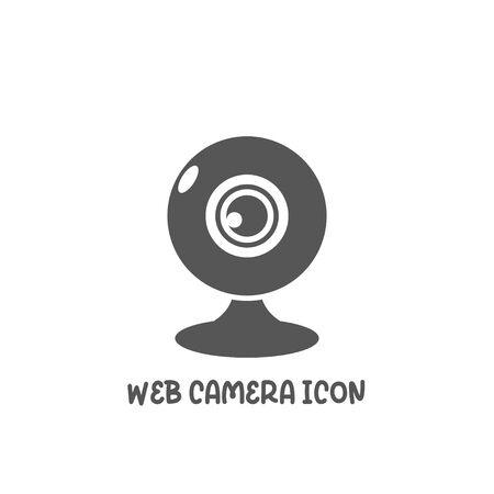 Web camera icon simple silhouette flat style vector illustration on white background.