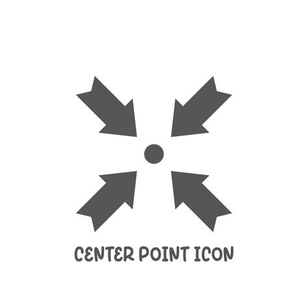 Center point icon simple silhouette flat style vector illustration on white background. Illustration