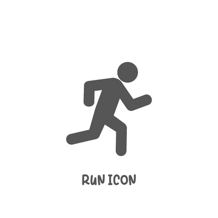 Run icon simple silhouette flat style vector illustration on white background.