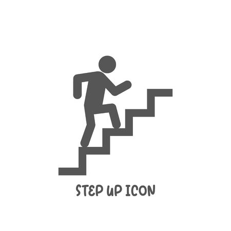 Step up icon simple silhouette flat style vector illustration on white background.